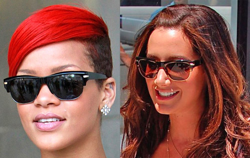 Rihanna vs Ashley Tisdale in Oliver Peoples Wilder