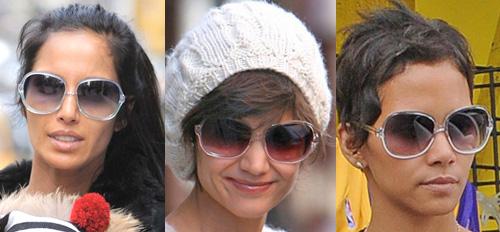 Katie Holmes vs Padma Lakshmi vs Halle Berry in Oliver Peoples Sabina