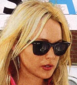 Lindsay Lohan - Ray-Ban - RB 2140